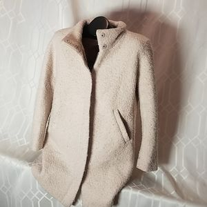 Ann Taylor Loft light pink wool blend coat L Petit